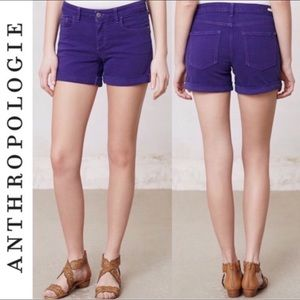 Anthropologie Pilcro and the Letterpress shorts